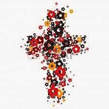 croce di fiori